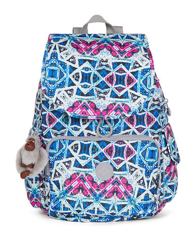 Kipling Ravier Printed Backpack-SKY-One Size