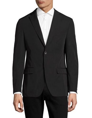 Dkny Slim-Fit Sateen Sports Jacket-BLACK-46 Regular