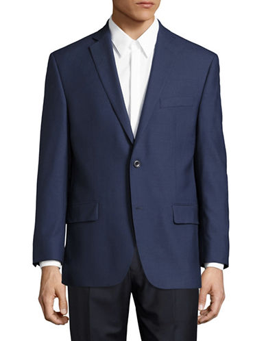 Michael Michael Kors Slim-Fit Wool Sports Jacket-BLUE-42 Regular
