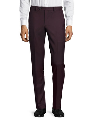 1670 Slim Fit Flex Stretch Dress Pants-RED-34X30