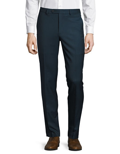 1670 Slim Fit Flex Stretch Dress Pants-BLUE-38X30