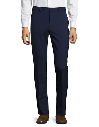 1670 Slim Fit Flex Stretch Dress Pants-BLUE-38X34