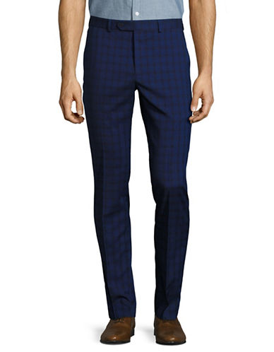 1670 Ultra Flex Plaid Pants-BLUE-40X32