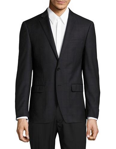 Calvin Klein X-Fit Slim Wool Sports Jacket-BLACK-48 Regular