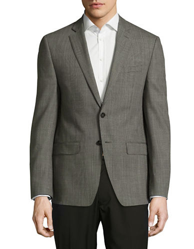 Calvin Klein X-Fit Slim Wool Sports Jacket-GREY-42 Regular