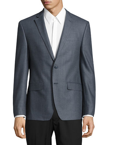 Calvin Klein X-Fit Slim Wool Sports Jacket-BLUE-46 Regular