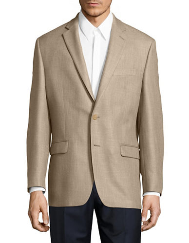Lauren Ralph Lauren Slim Fit Ultraflex Marled Sports Jacket-BEIGE-46 Regular