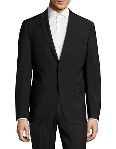 Calvin Klein X-Fit Slim Wool-Blend Suit Jacket-BLACK-44 Regular