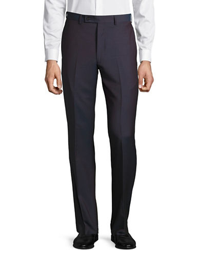 Calvin Klein X-Fit Slim Wool Dress Pants-RED-33X30