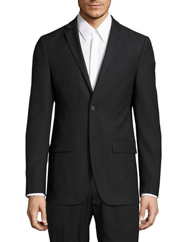 1670 Slim-Fit Textured Sports Jacket-BLACK-48 Regular