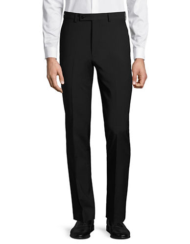 Calvin Klein X-Fit Slim Wool Dress Pants-BLACK-37X32
