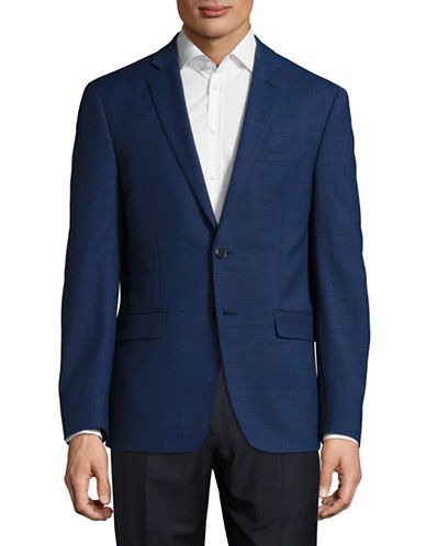 Calvin Klein X-Fit Slim Wool Sports Jacket-BLUE-42 Regular