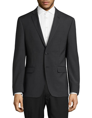 Calvin Klein X-Fit Slim Wool Sports Jacket-GREY-40 Regular