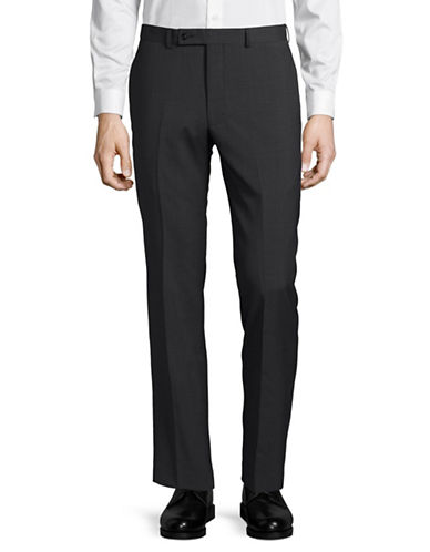 Calvin Klein X-Fit Slim Wool Dress Pants-DARK GREY-39X30