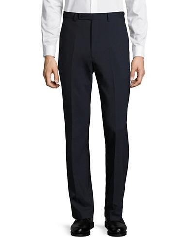 Calvin Klein X-Fit Slim Wool Dress Pants-BLUE-39X34