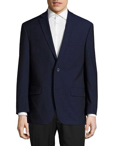 Michael Michael Kors Slim-Fit Checkered Wool Sports Jacket-BLUE-44 Short