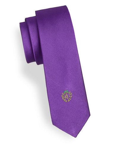 Lauren Ralph Lauren Solid Silk Tie-PURPLE-One Size