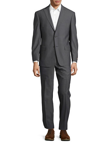 Michael Kors Checked Plaid Pants Suit-GREY-42 Regular