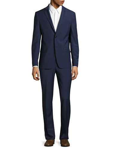 John Varvatos Star U.S.A. Slim Fit Knit Sports Jacket-NAVY-46 Regular