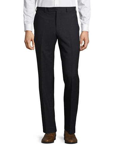 Calvin Klein X-Fit Slim Pinstripe Dress Pants-CHARCOAL-39X30