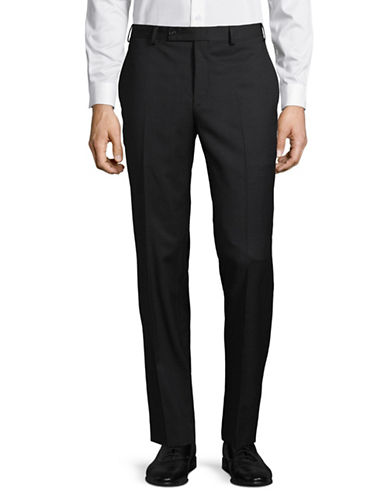 Calvin Klein X-Fit Slim Wool Suit Pants-BROWN-37X34