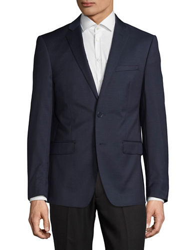 Calvin Klein X-Fit Slim Wool Suit Jacket-NAVY-42 Short
