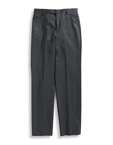 Lauren Ralph Lauren Boys 8 to 20 Solid Trousers-MEDIUM GREY-10