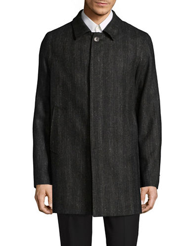 John Varvatos Star U.S.A. Textured Point Collar Jacket-BLACK-42 Regular