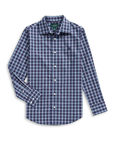 Lauren Ralph Lauren Multi-Check Sport Shirt-BLUE-10