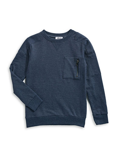 Dex Crewneck Sweatshirt-BLUE-Small