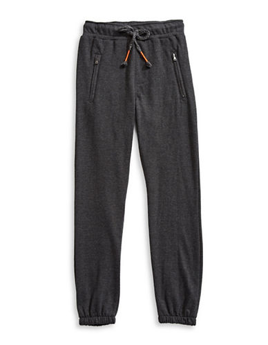 Dex Melange Elasticized Jogger Pants-GREY-Large