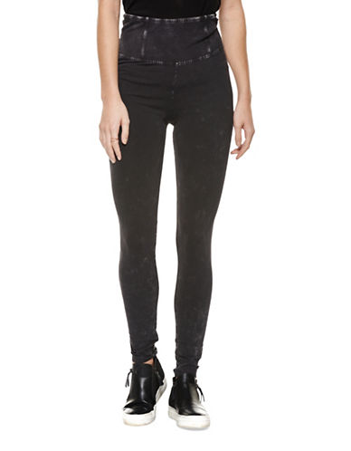 Dex Acid Wash Leggings-BLACK-Small