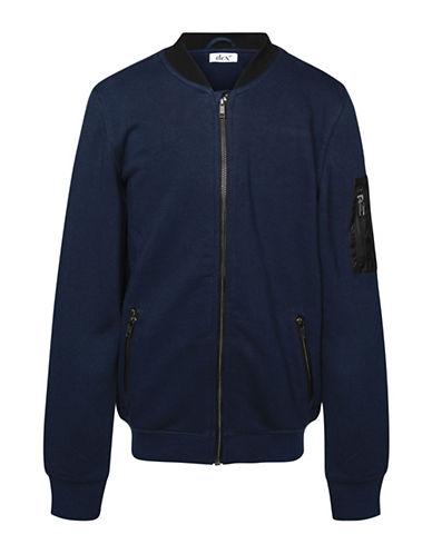 Dex Rib-Knit Bomber Jacket-BLUE-8-10