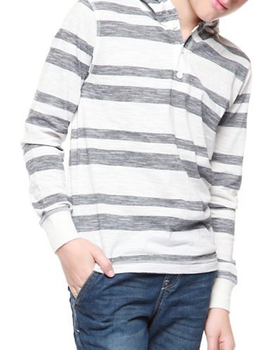 Dex Long Sleeve Stripe Hoodie-BLUE-12