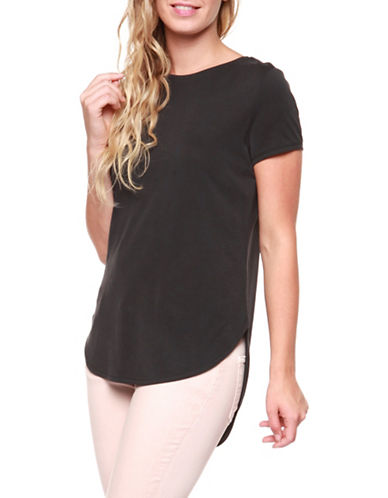 Dex Mixed Media Tee-BLACK-X-Small 89454329_BLACK_X-Small
