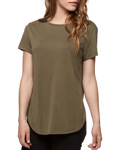 Dex Mixed Media Tee-GREEN-Large