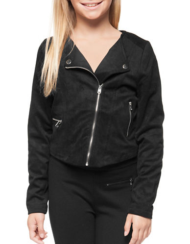 Dex Asymmetric Zip-Front Jacket-BLACK-Small