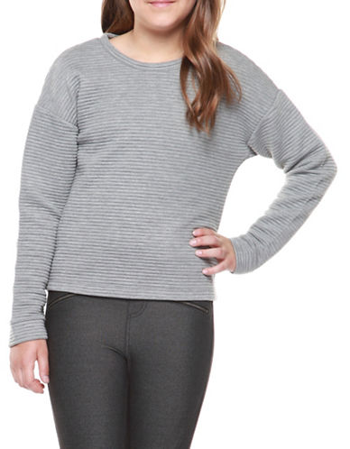 Dex Knit Quilted Top-GREY-X-Large