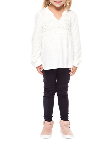 Dex Lace-Trimmed Blouse-IVORY-5
