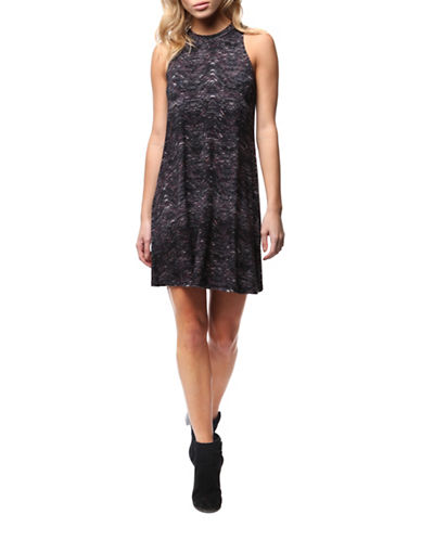Dex Sleeveless Printed Shift Dress-MULTI-Medium
