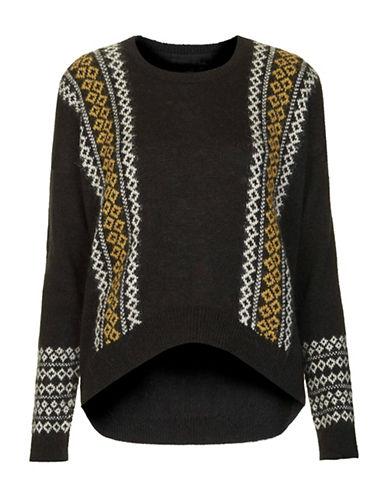 Dex Step Hem Wool-Blend Sweater-GREY-Medium 88696660_GREY_Medium