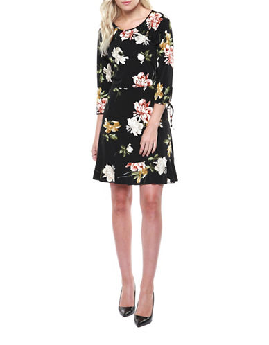 Dex Floral Shift Dress-ASSORTED-Large