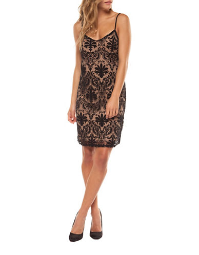 Dex Mesh Camisole Sheath Dress-PAISLEY MULTI-Medium