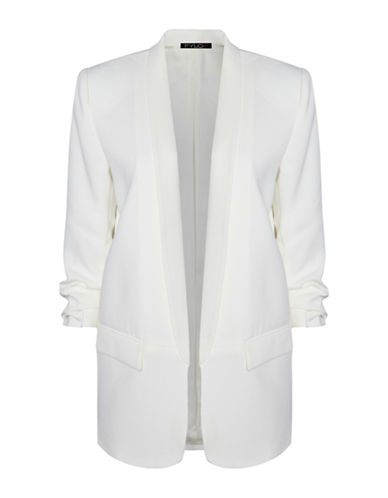 Fylo Three Quarter Sleeve Jacket-WHITE-Medium