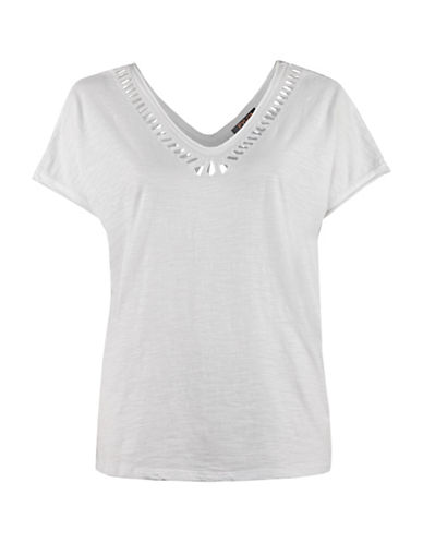 Fylo Cut-Out Neck T-shirt-WHITE-X-Small 88367110_WHITE_X-Small