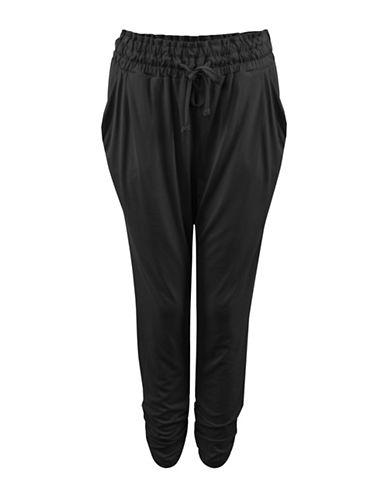 Dex Tapered Elastic Waist Pants-BLACK-Small 88461607_BLACK_Small