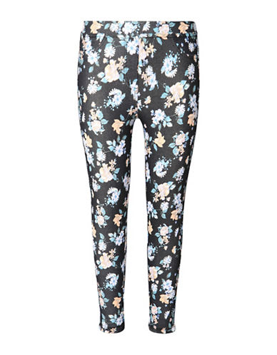 Dex Floral Printed Leggings-BLACK-Medium 88407356_BLACK_Medium