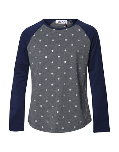 Dex Star Print Raglan Tee-GREY-Medium 88723353_GREY_Medium