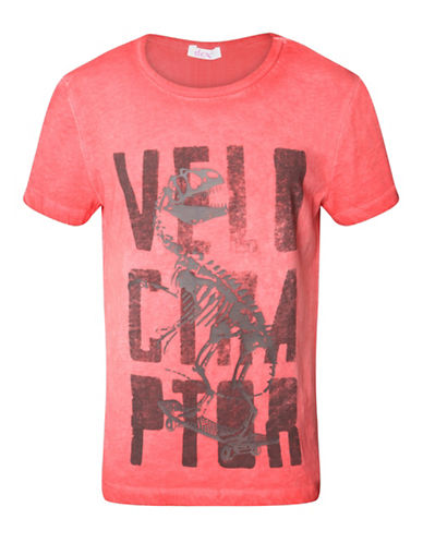 Dex Acid Wash Graphic Print T-Shirt-RED-Medium 88513081_RED_Medium