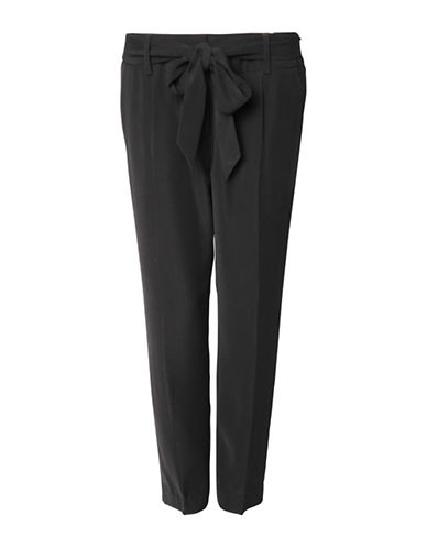 Fylo Bowed Self-Belt Pants-BLACK-Large 88696958_BLACK_Large